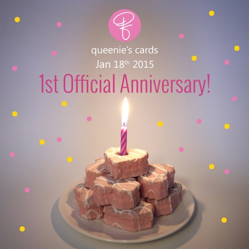 queenies cards - official anniversary